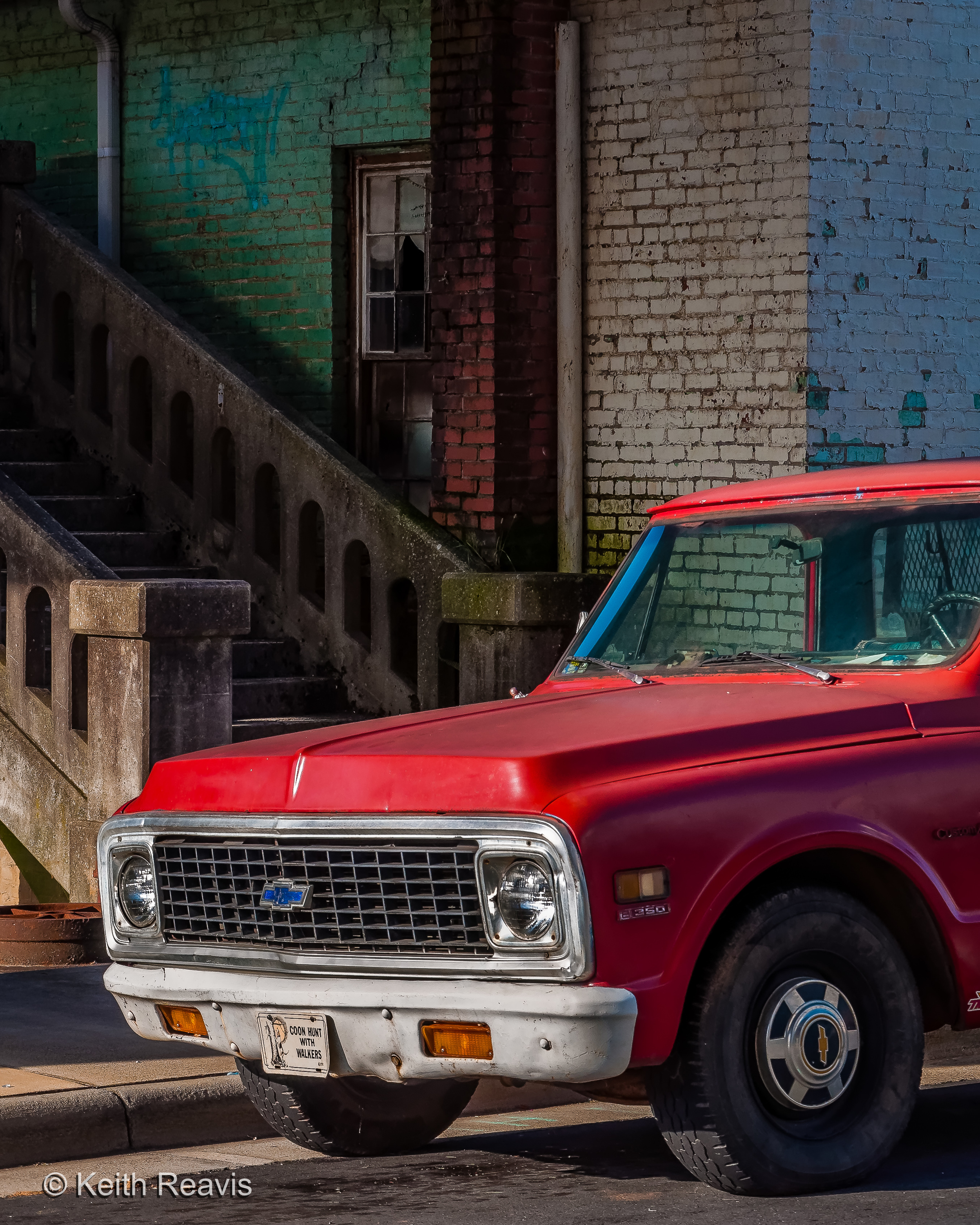 Red Truck, Steps Going To.....