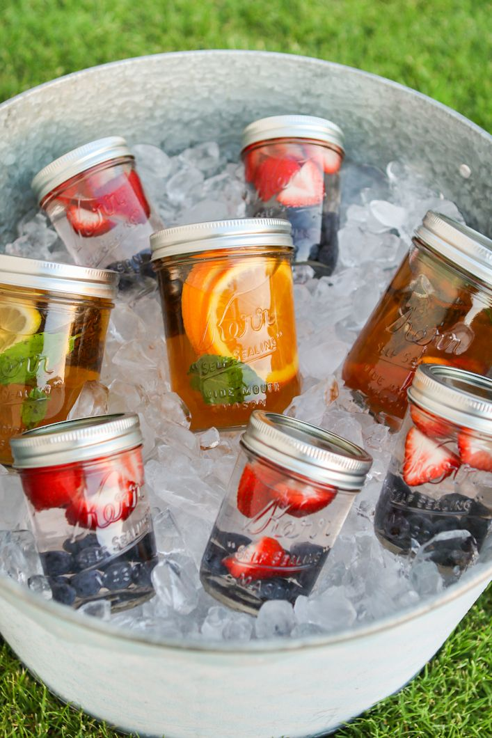 Fill your refrigerator with these fruit infusedwaters. I don't buy soda, and very little juice, so when my daughter is thirsty I have these already made up. She loves them and even likes helping me make them. Keeping my familyhydrated has never been so easy.