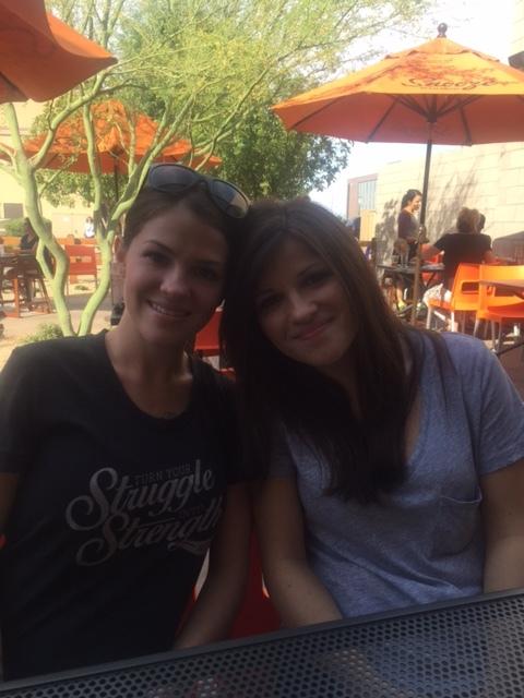 Tara and Brittney at Snooze