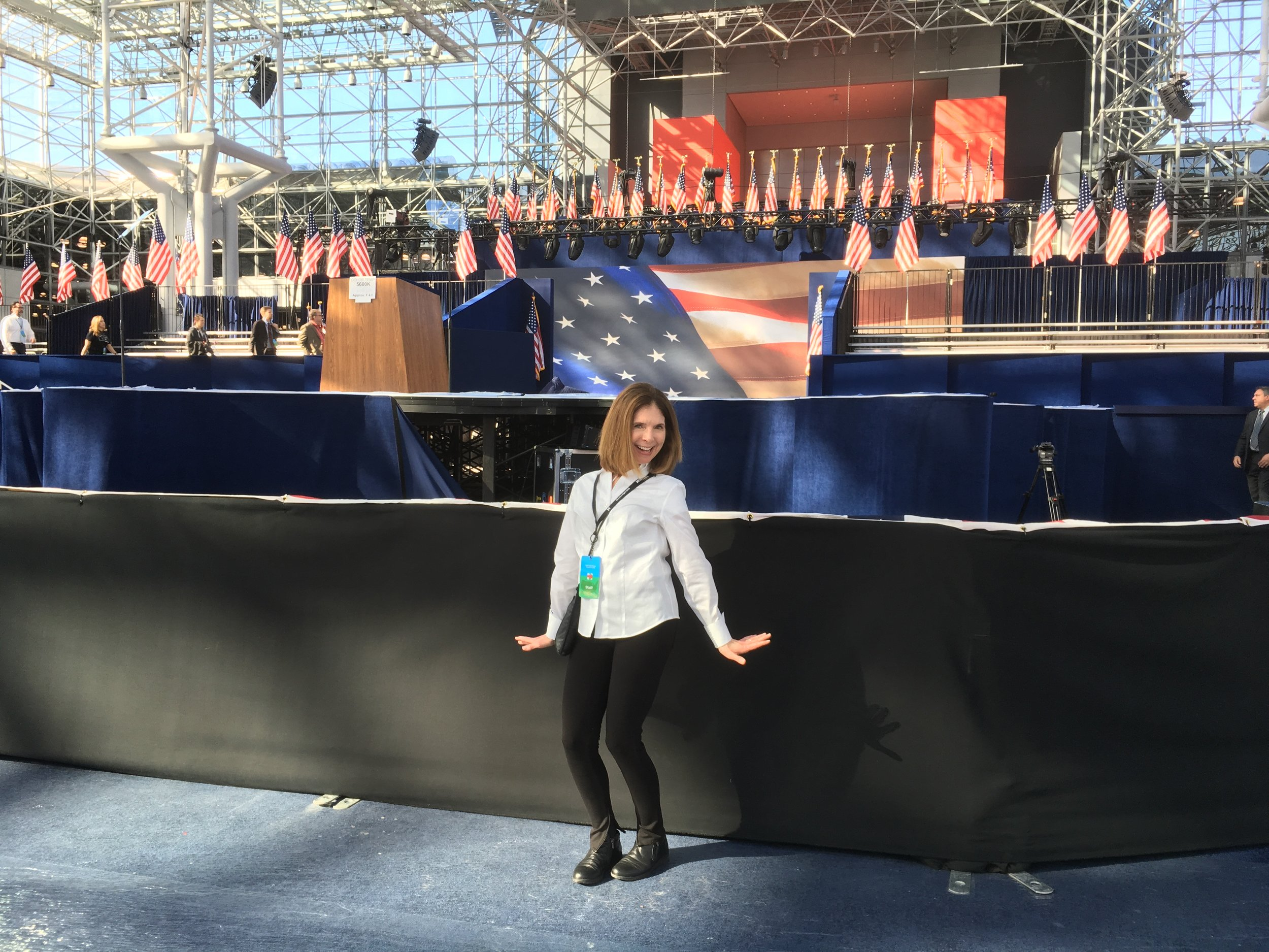 Here I am last year at Hillary's election headquarters, practicing my victory dance. Hey, I'm still dancing for women across the country... just not using the same moves.