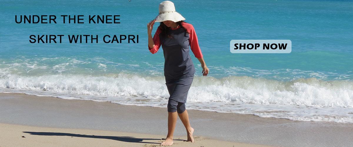 Swim Skirt with Capris - Nikki