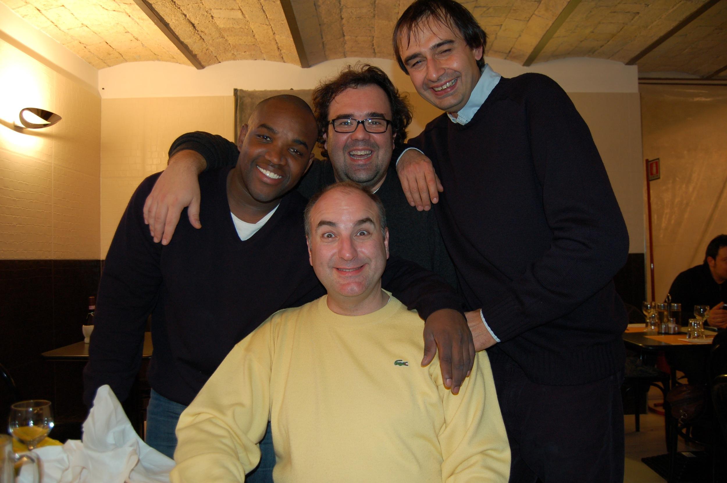 Michele Pertusi, Roberto DeCandia, and friend