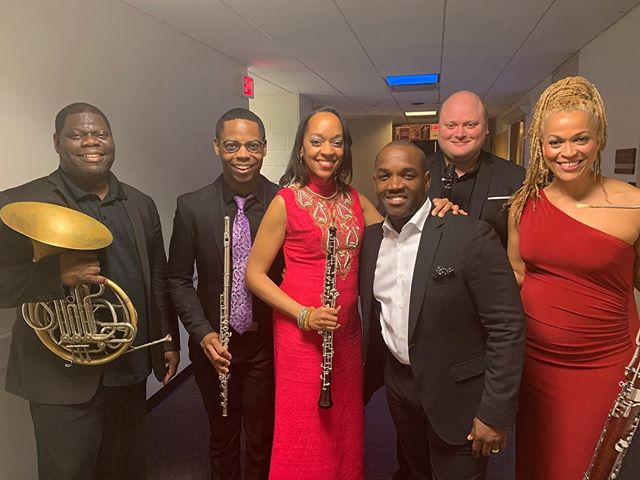 "Taking part In ""Two Wings"" with @thejasonmoran and @aliciahallmoran @kennedycenter. Hanging out with @imaniwinds! Fun and talented group! They were all salivating to watch GOT! 😂😂"