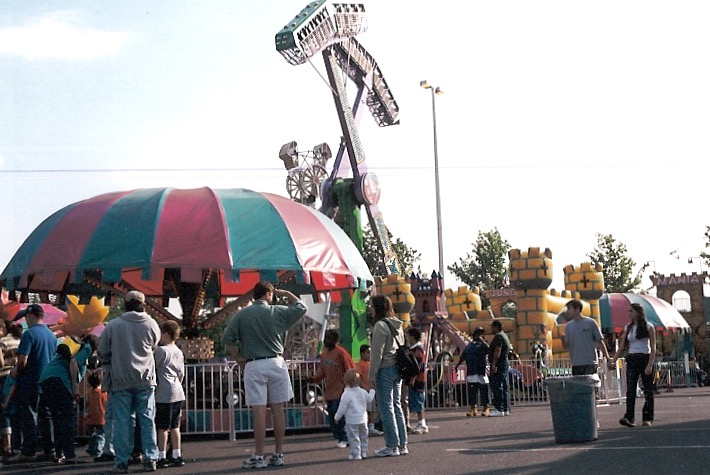 Carnival at the Owings Mill Metro lot on Painters Mill Road.