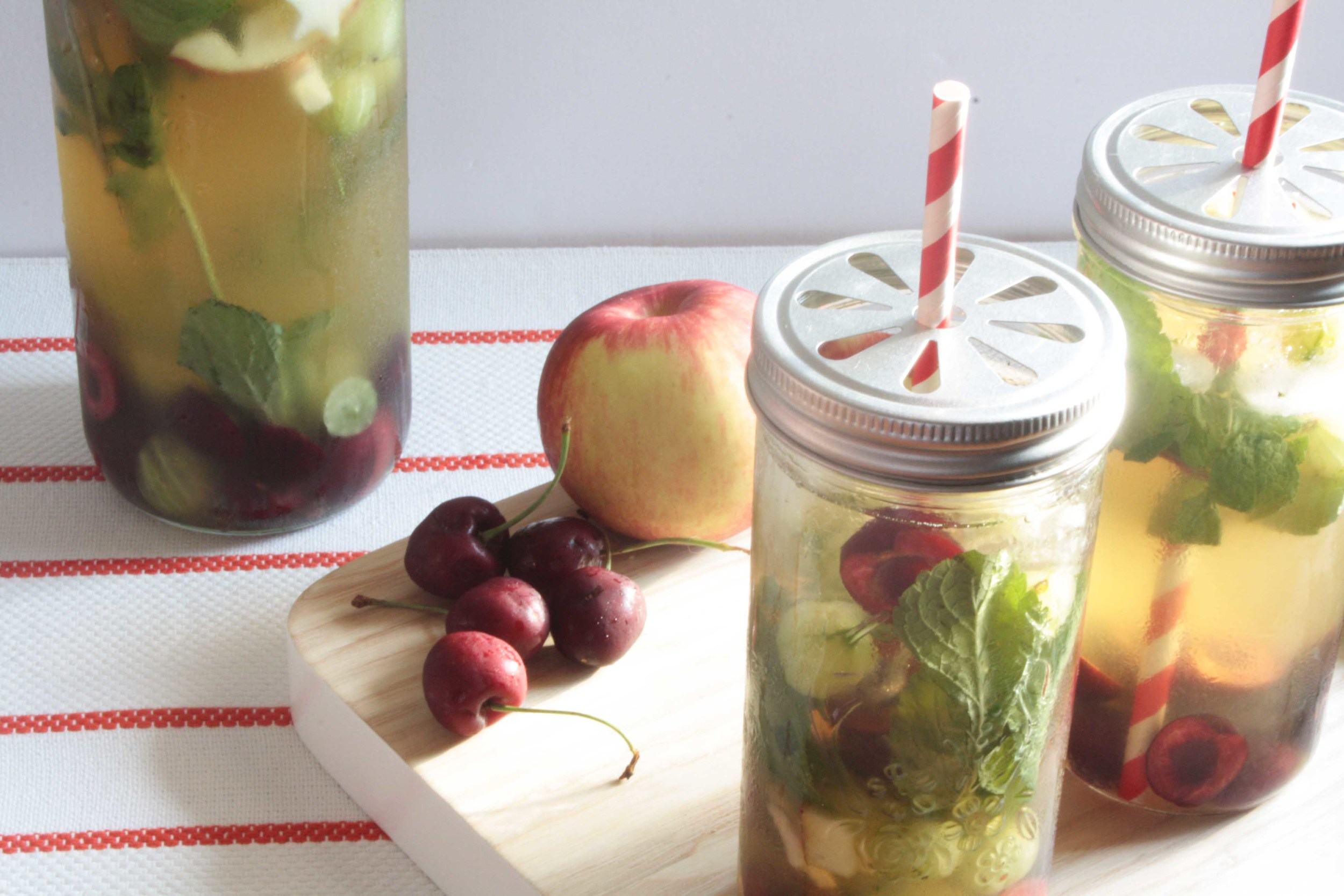 Canada Day Sangria with Canadian Whisky and Ontario Wine