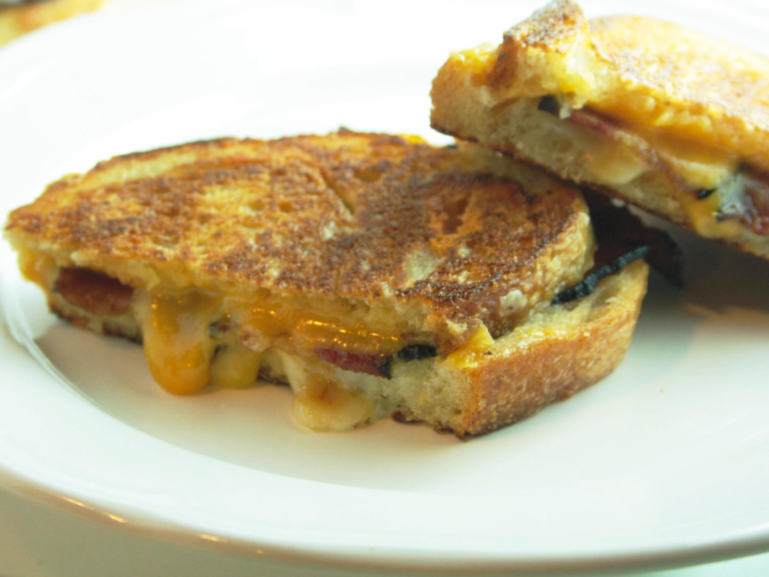 Bacon and Grilled Cheese Sandwich with Homemade Ketchup