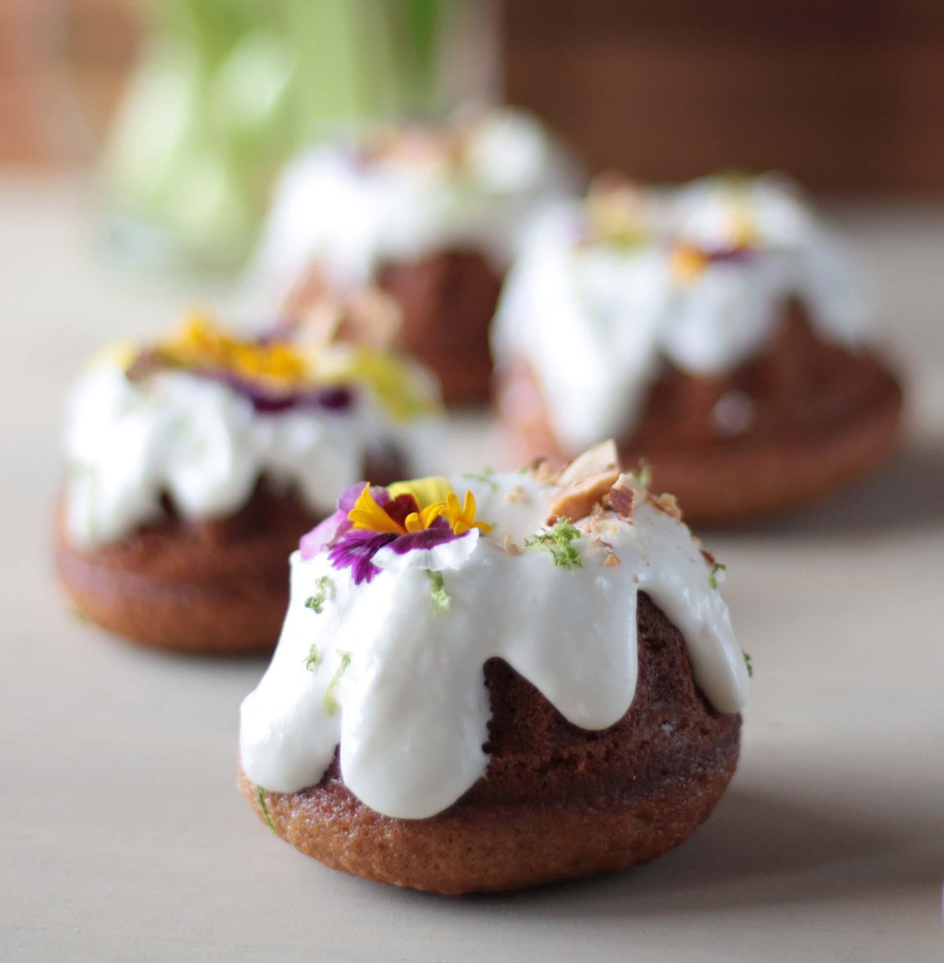 Hummingbird Mini Bundt Cakes