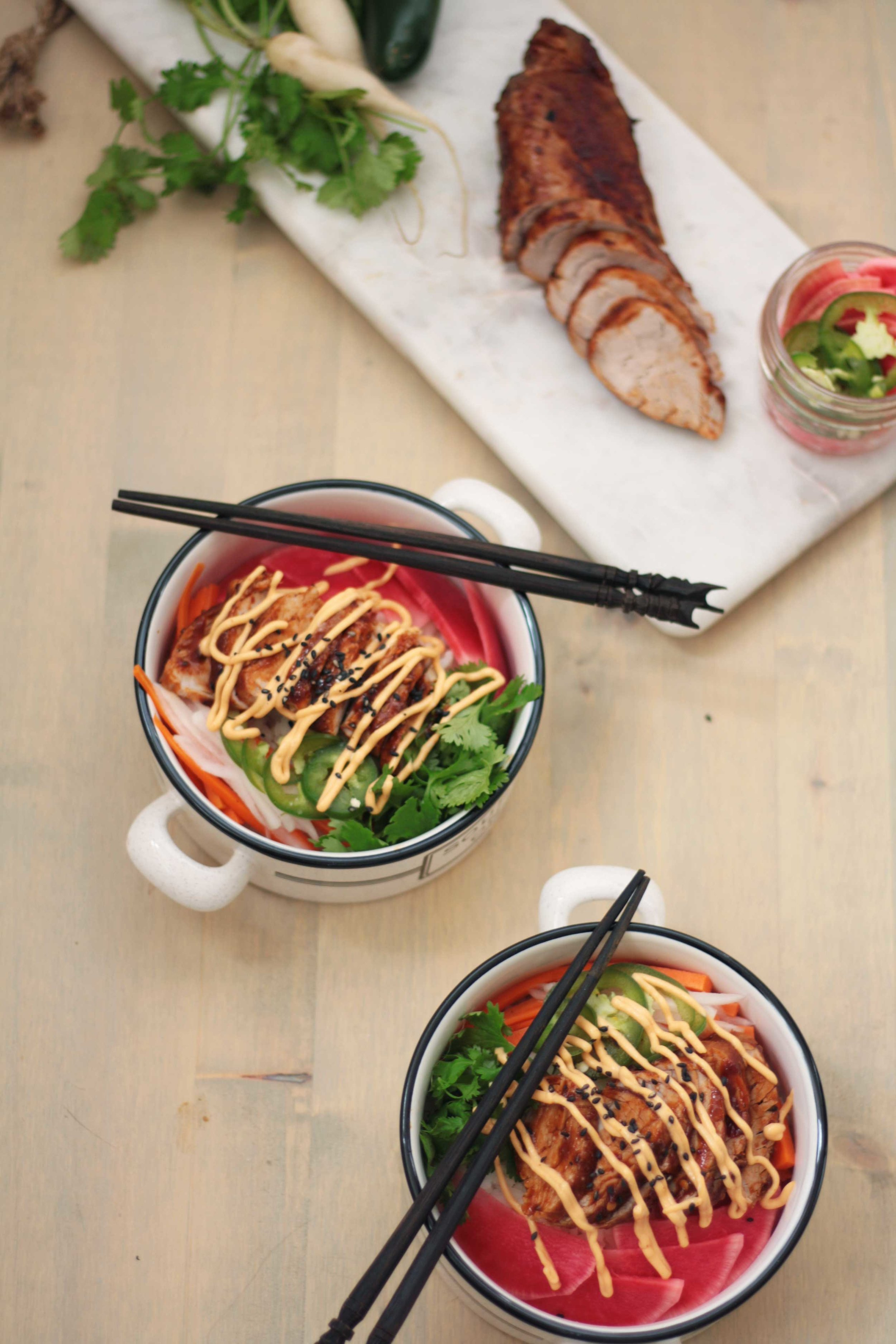 Banh Mi Bowls with Quick Pickles
