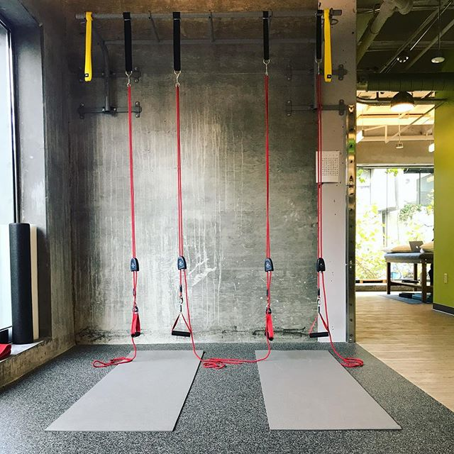 Stoked to be bringing #redcord classes back into my clinical practice #therapydiasf #suspensiontraining