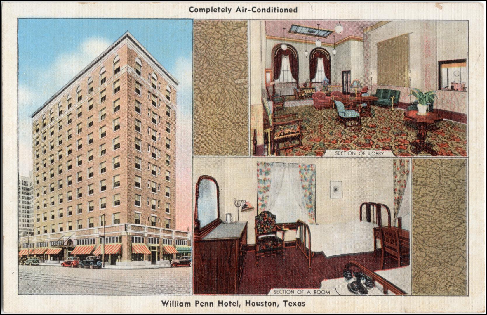 William Penn Hotel, Houston, Texas