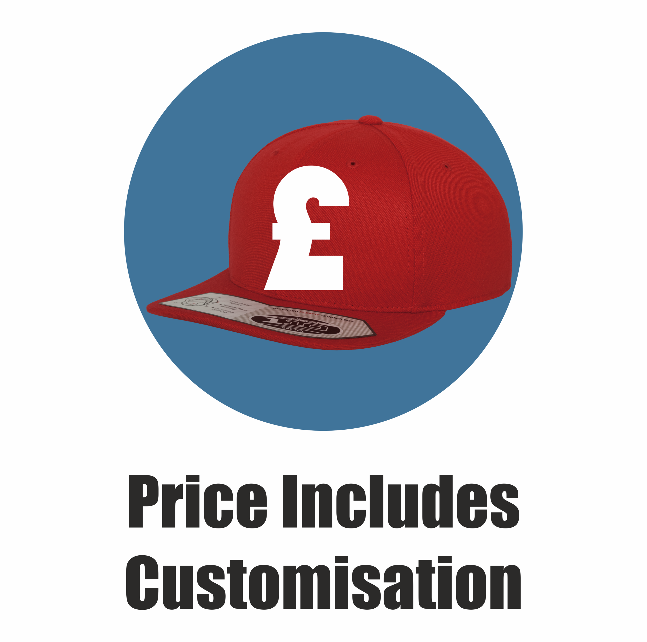 Yupoong Flexfit by London Snapbacks, Price includes front & back customisation.png