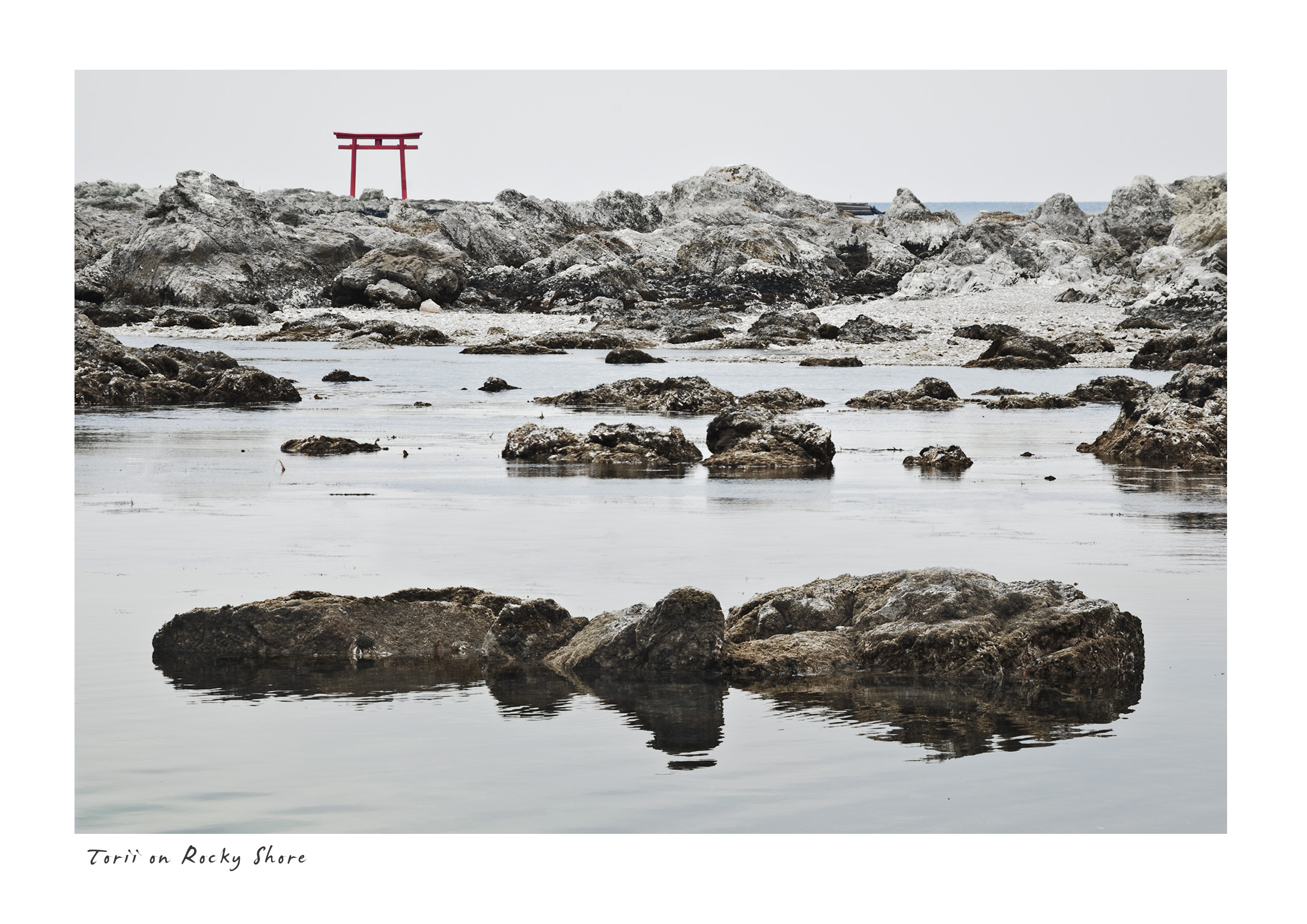 Torii on Rocky Shore