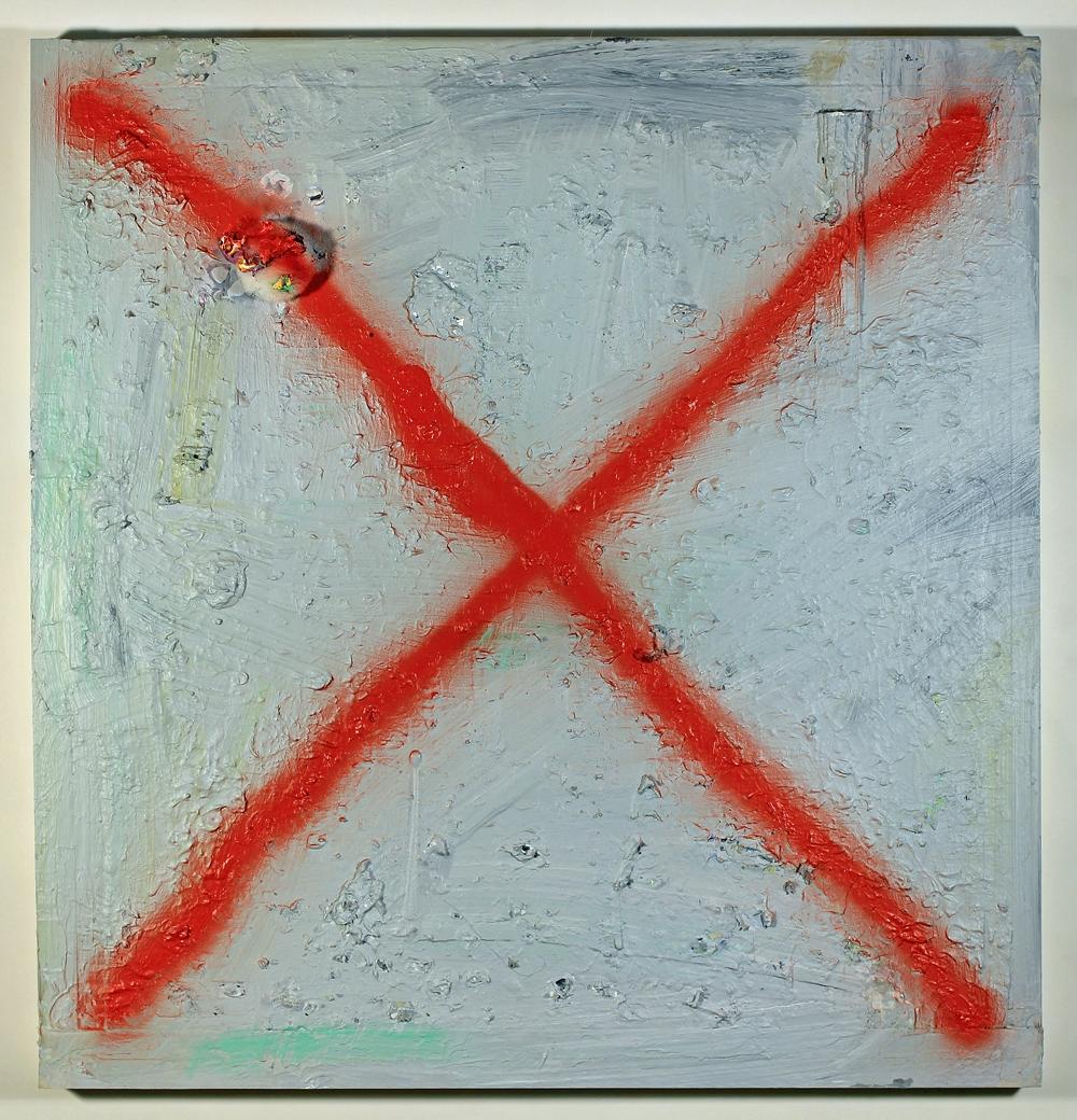Failed Painting #1 (Blood Orange 'X')
