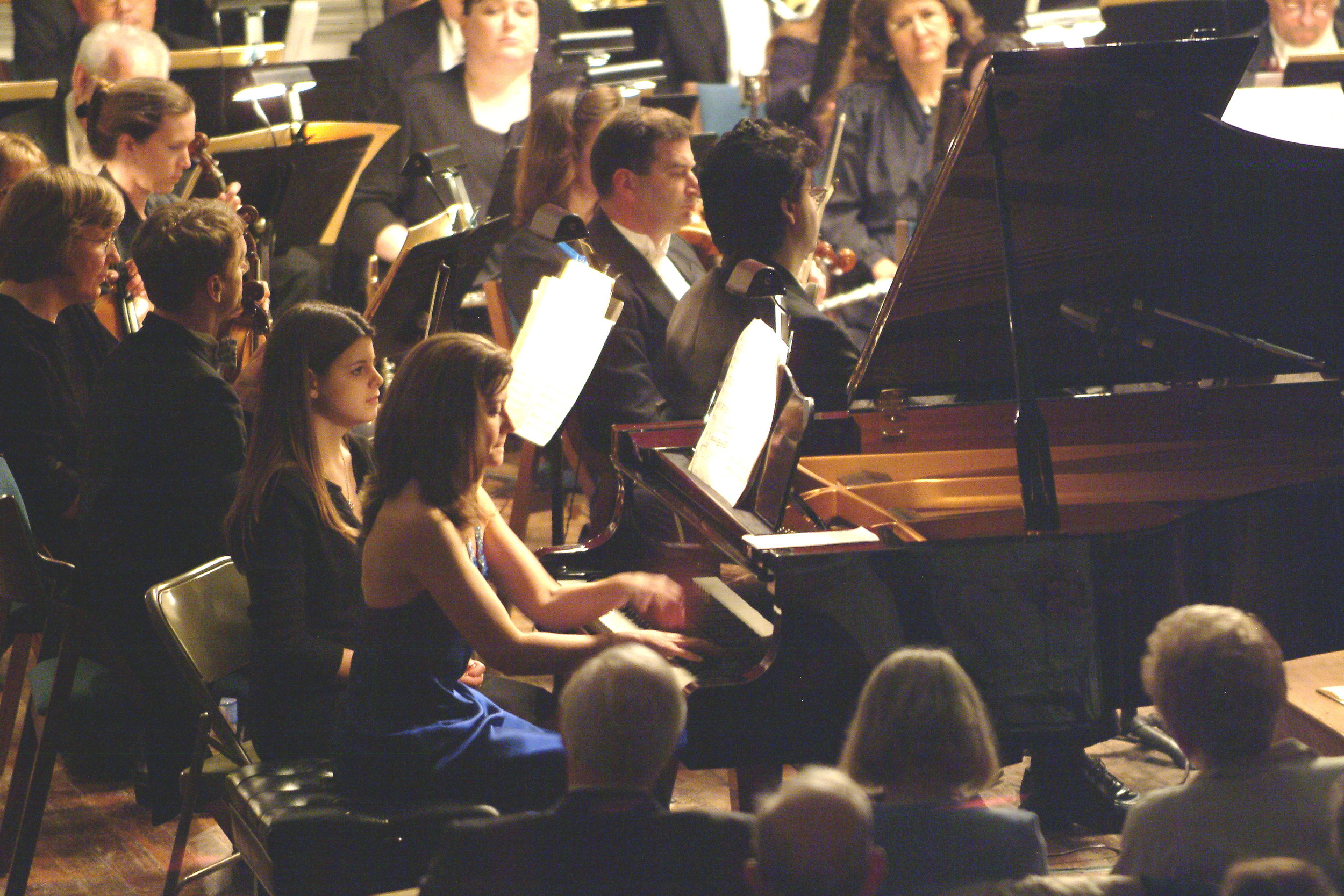 "Beth Surapine performing George Gershwin's popular ""Rhapsody in Blue"" in April 2005 with The Claflin Hill Symphony Orchestra at Milford Town Hall."