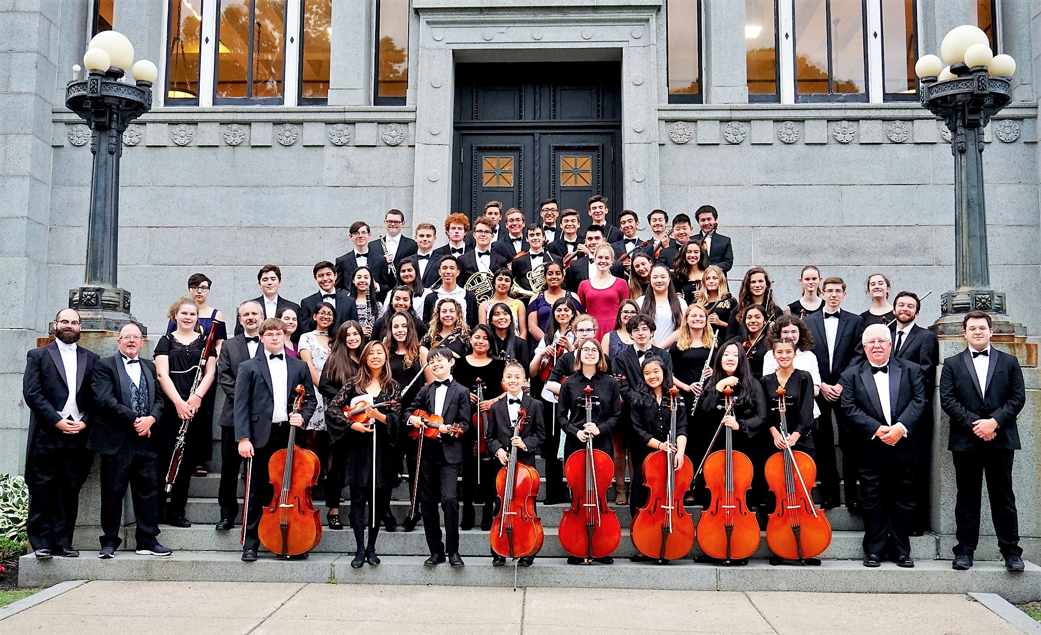 Members of The Claflin Hill Youth Symphonies joined with The Napa Valley Youth Symphony, Melrose, June 2018