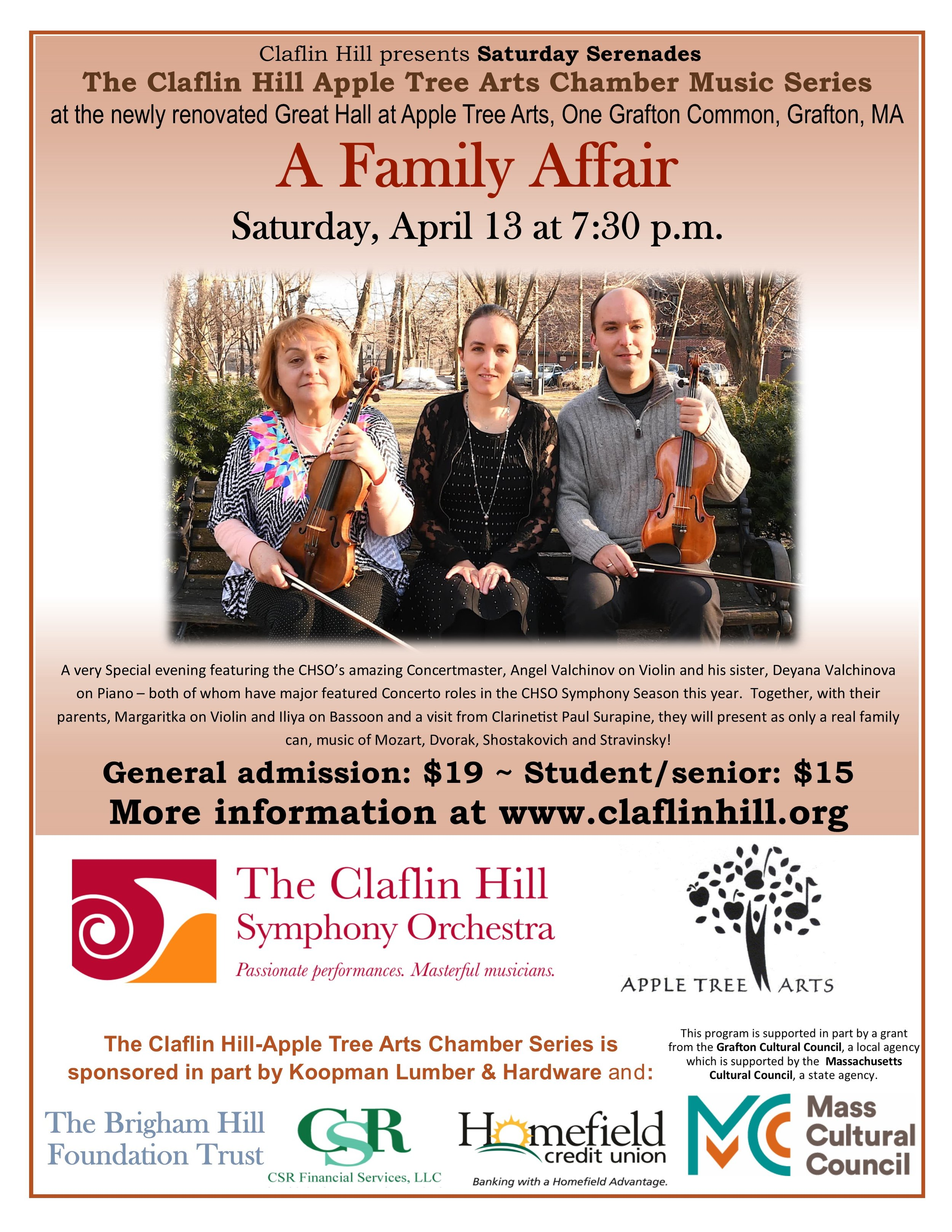 Pauls Blog The Claflin Hill Symphony Orchestra