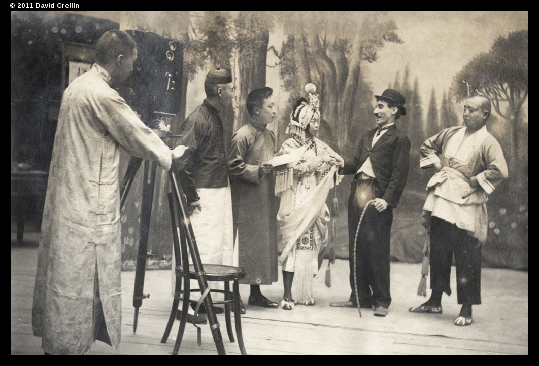 Charle Chaplin with Mei Lanfang --  From the University of Bristol China Collection!