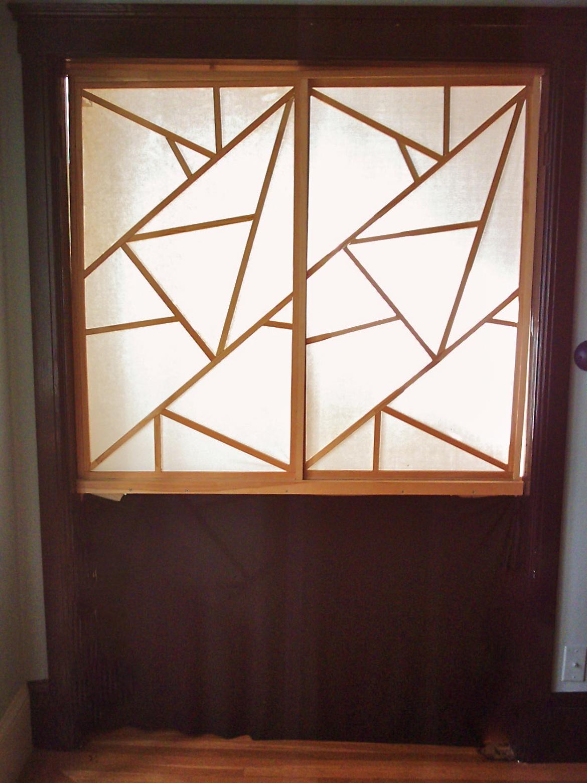 The shoji screen door to my quiet room, 1997.