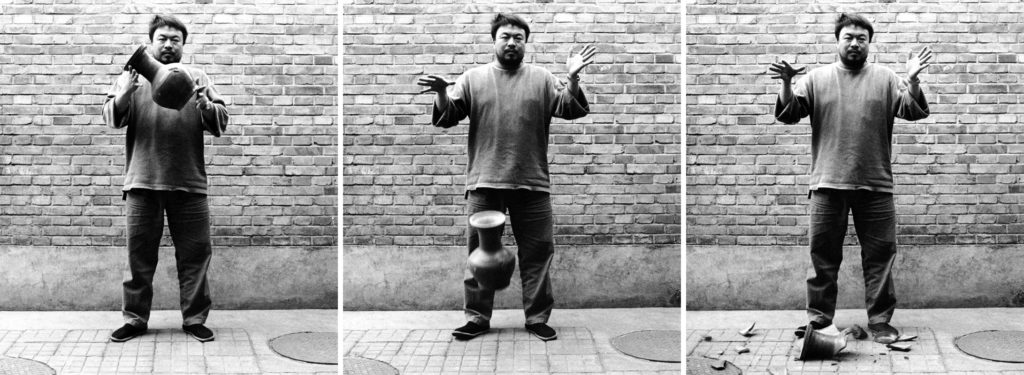 Ai Weiwei,  Dropping a Han Dynasty Urn  (1995). Courtesy of Ai Weiwei Studio and the Gardiner Museum.