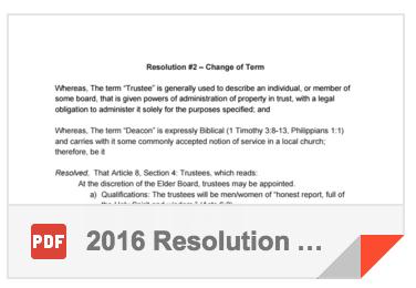 2016 Resolution #2 - Change of Term