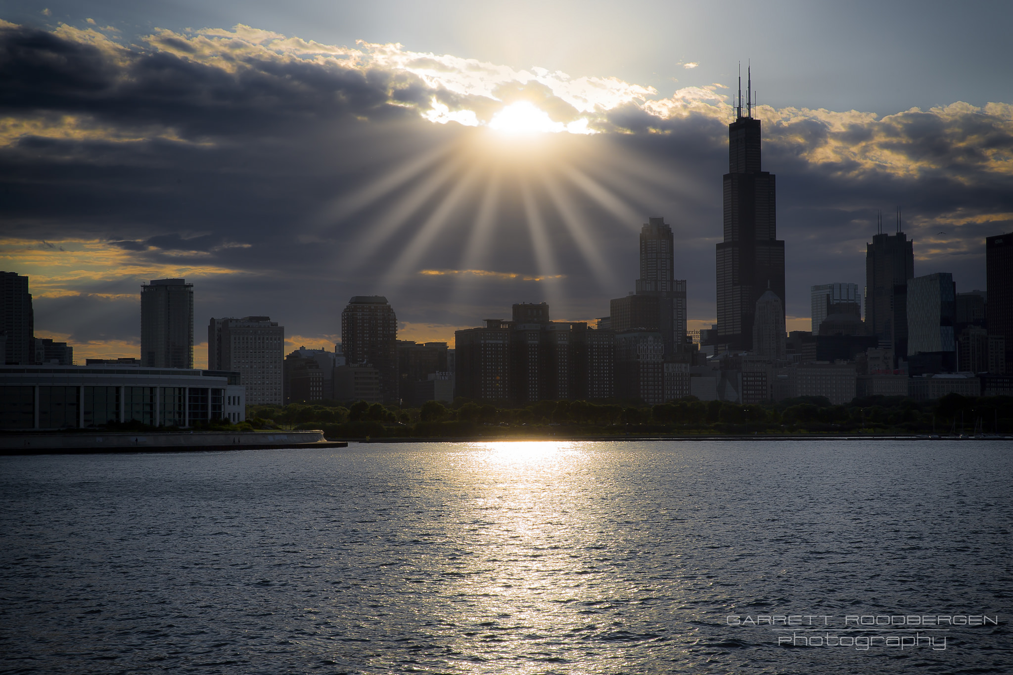 Doorway above the City  #chicago #sun #light #theheavens