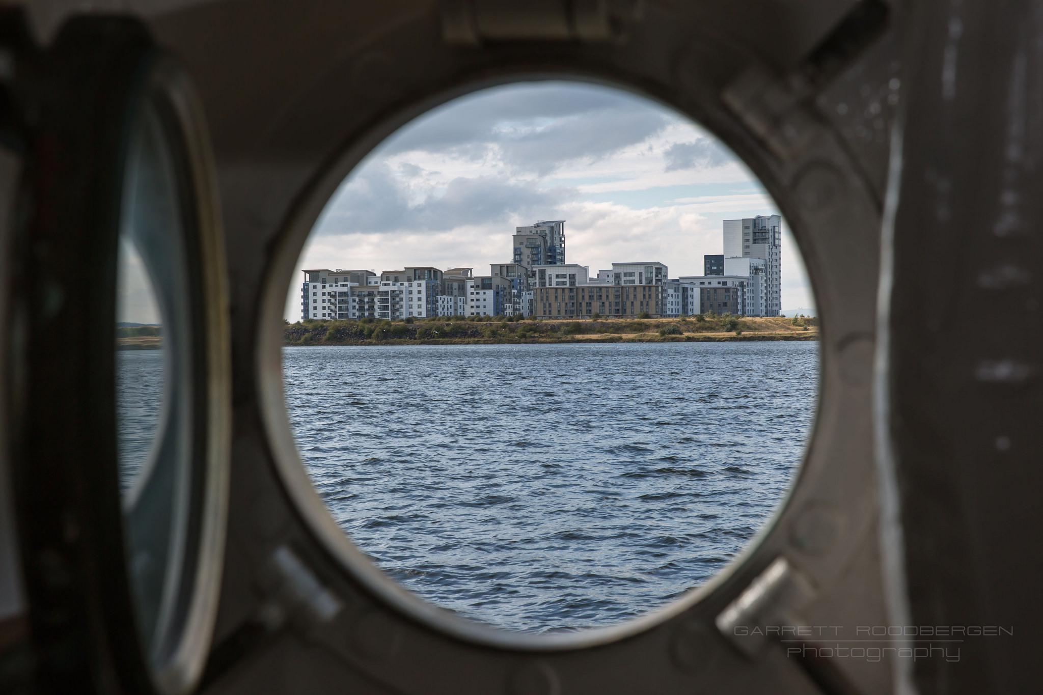 Through Port Hole #britannia #yacht #royal