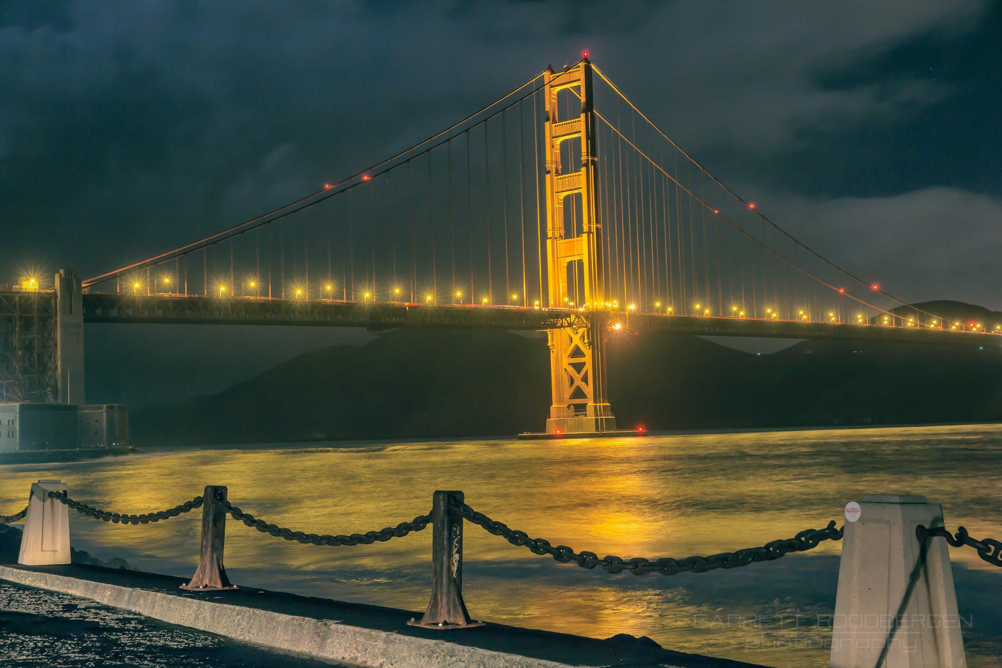 Bay of Gold under the Golden Gate #sanfrancisco #goldengatebridge #bay #gold #photographyislife #photography #california #life #live #adventure #monument #tour #vacation #capture #canon #5dmarkiii #adobe #photoshop #google #nikfilter