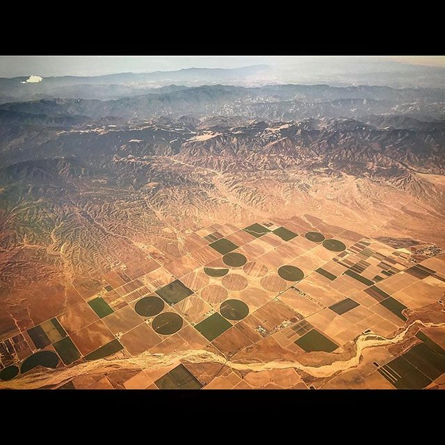 'The Circle Meets the Line + Back Again' : #SetLife #Travel #JetSet #AerialPhotography #CatchingUp #CropCircles • 👽