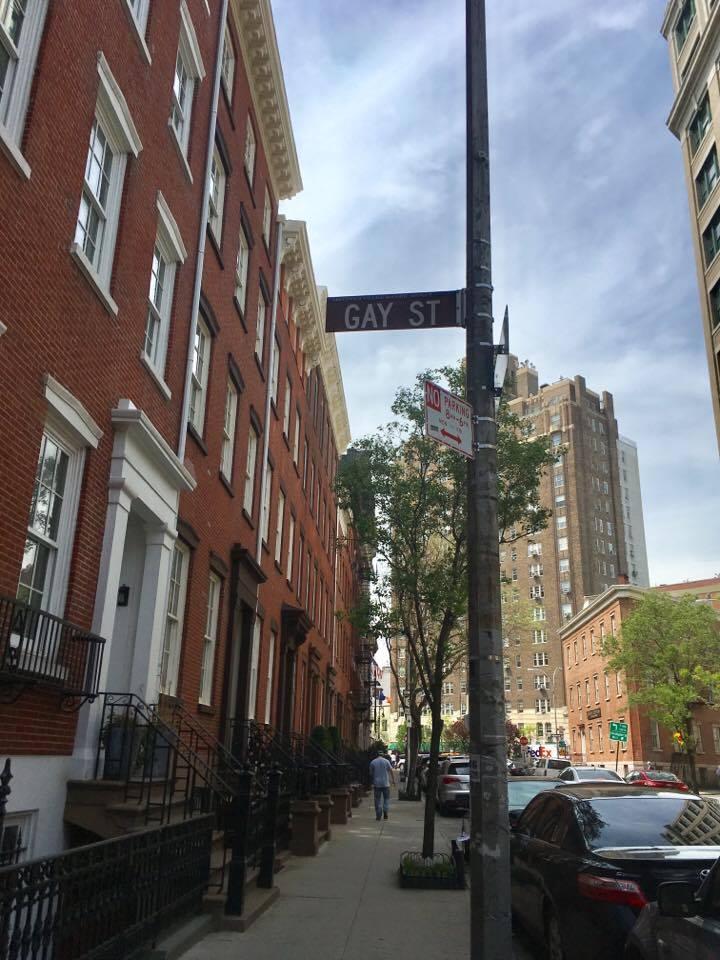 Gay Street near Waverly Place in Greenwich Village, Manhattan.