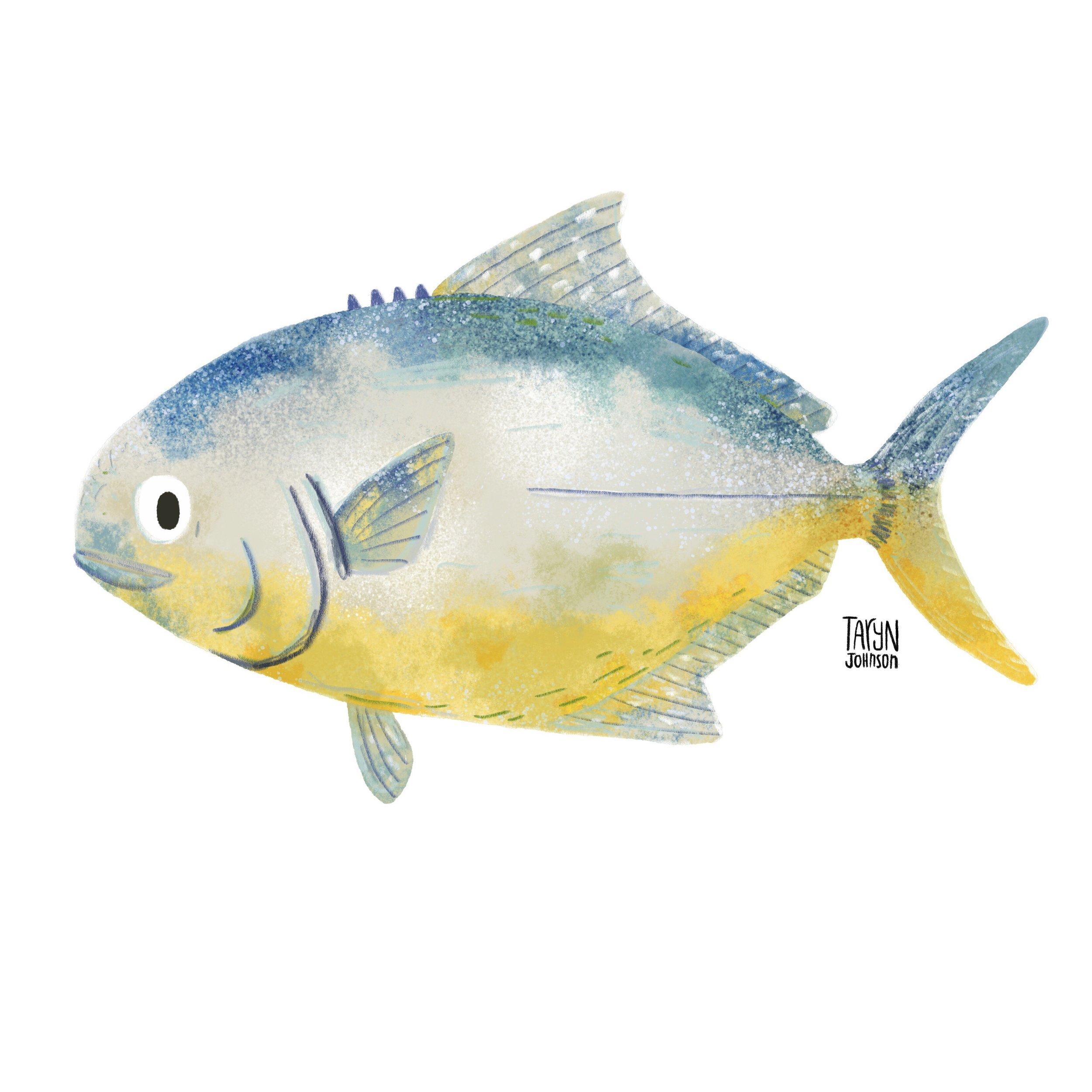 14/100 a pompano fish