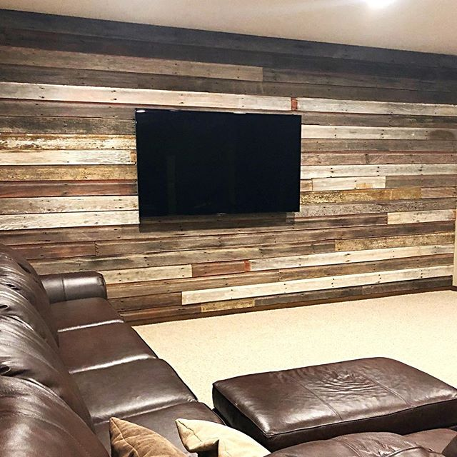 Nice wall made from our reclaimed barn wood.