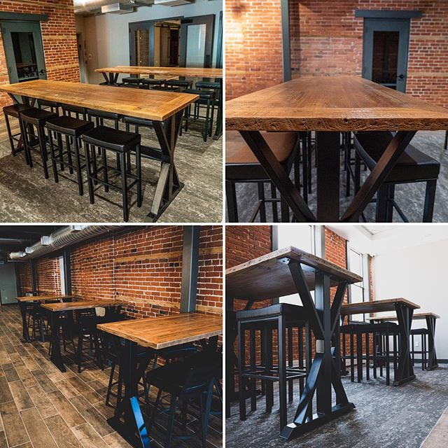 Few of the tables we built for the newly remodeled Glacial Till Tasting Room.