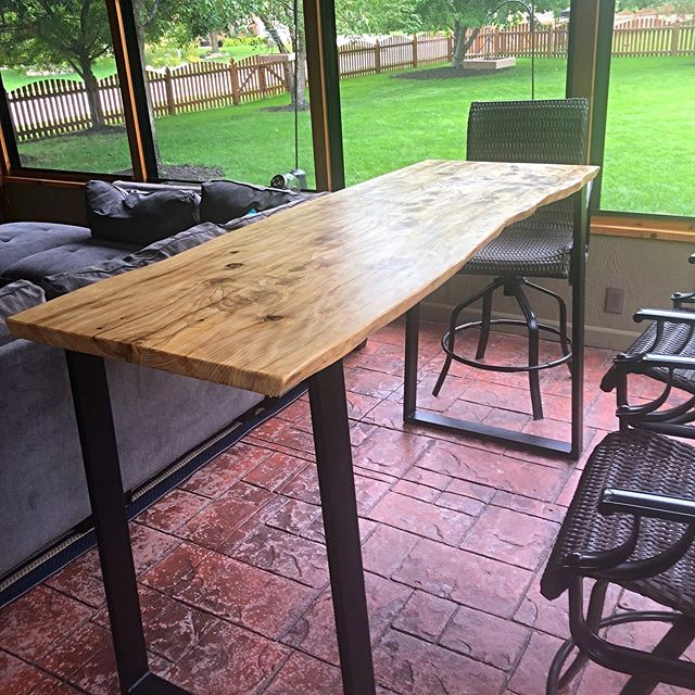 Australian Knotty Pine Pub Table.