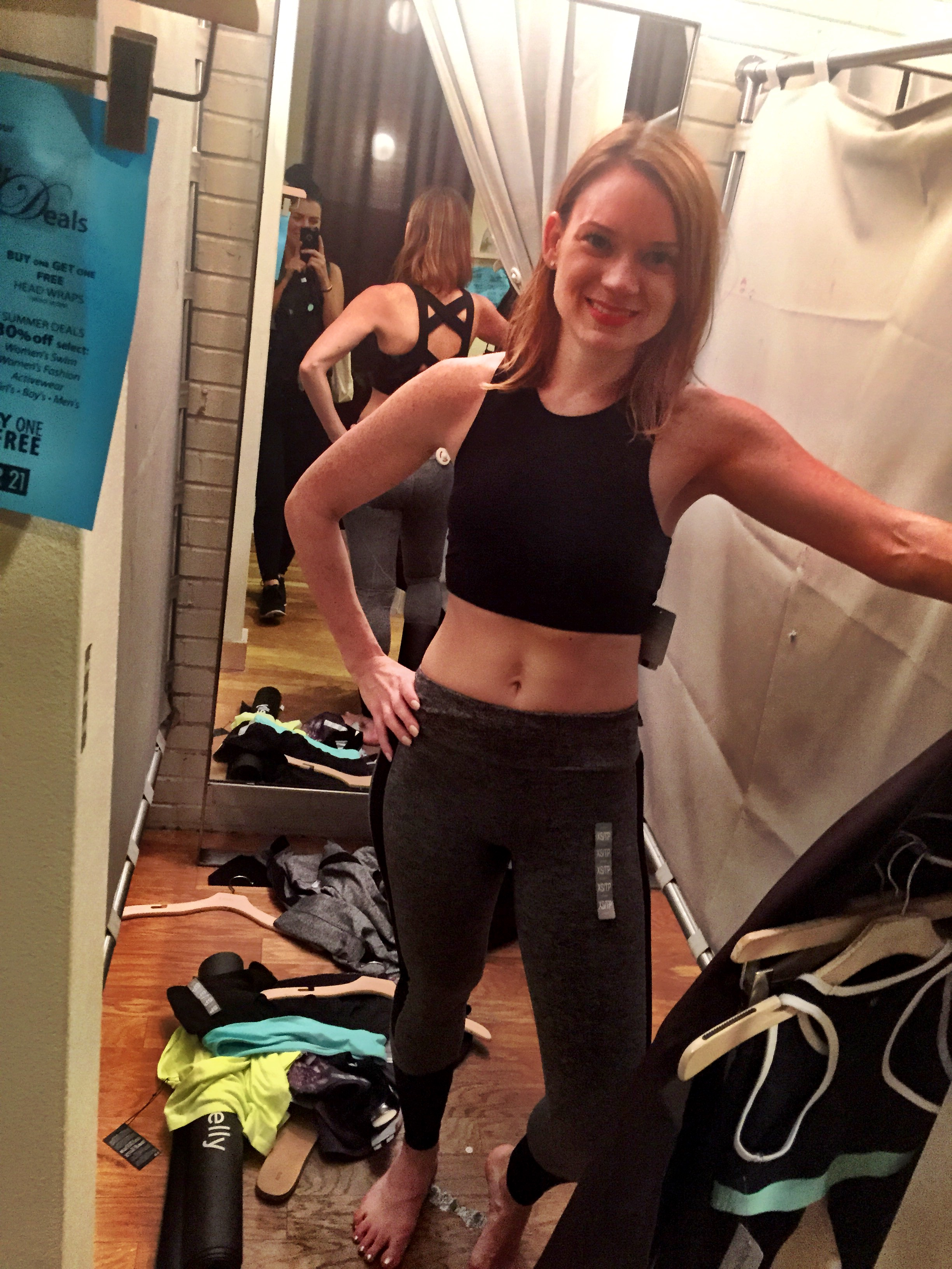 I am sharing my true me after 2 avo toasts :) Getting this   SPORTS BRA: $14.90   PANTS: $22.90