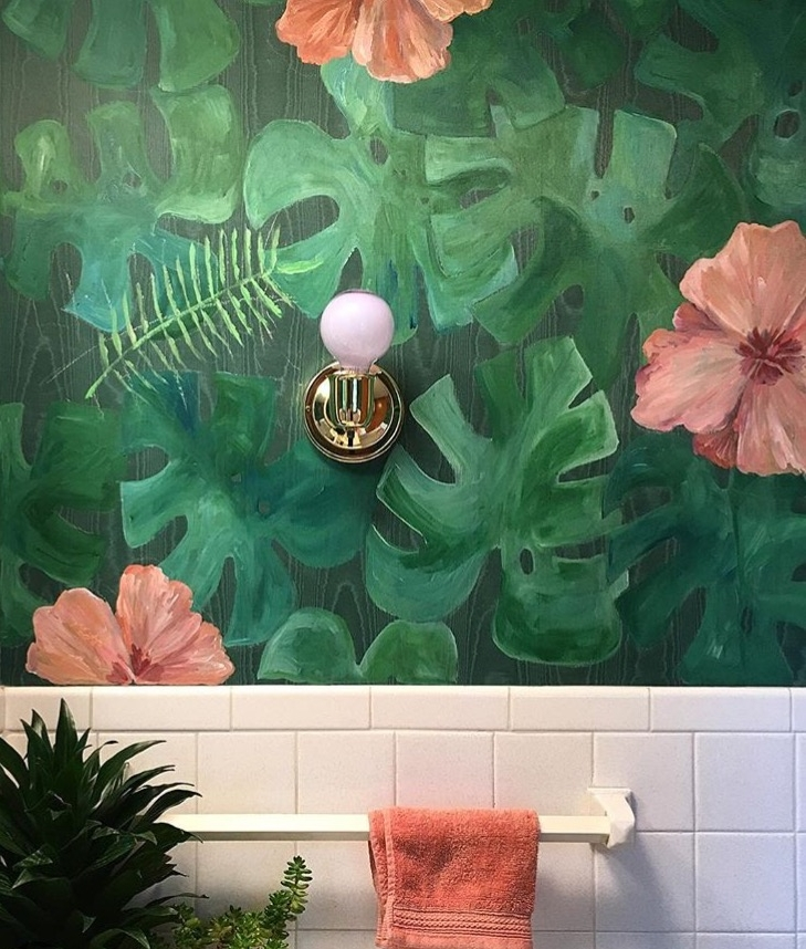 HAND PAINTED WALLPAPER - HIBISCUS.JPG