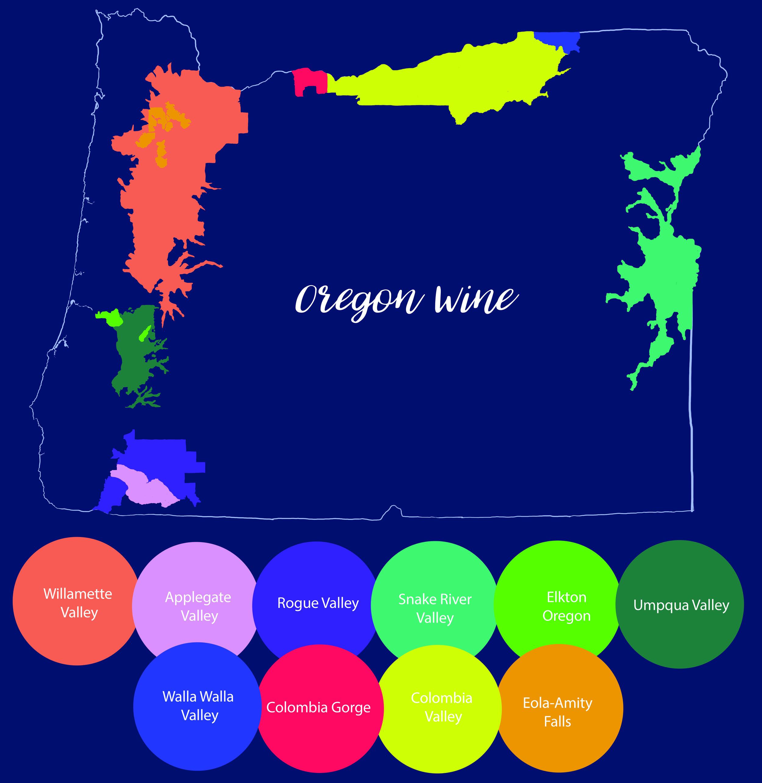 Oregon Wine Map