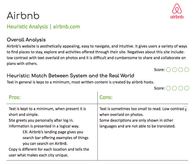 Airbnb Competitive Analysis Overview