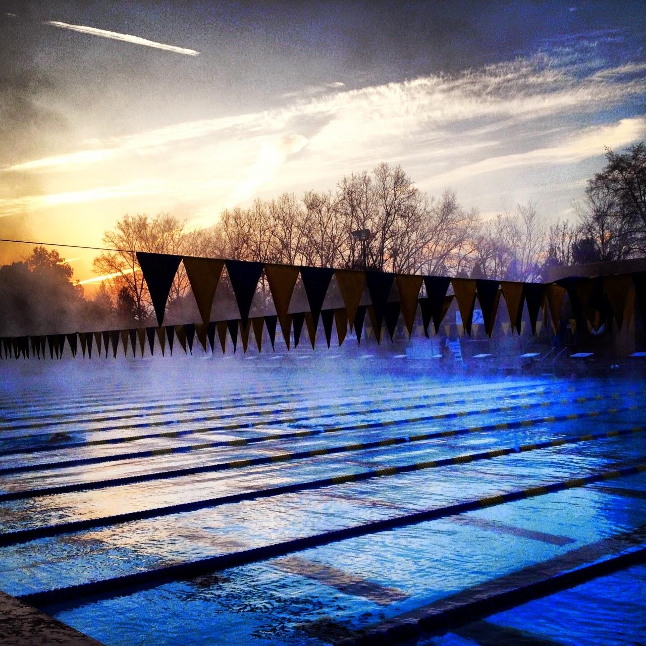 Sunrise swim lessons in life.