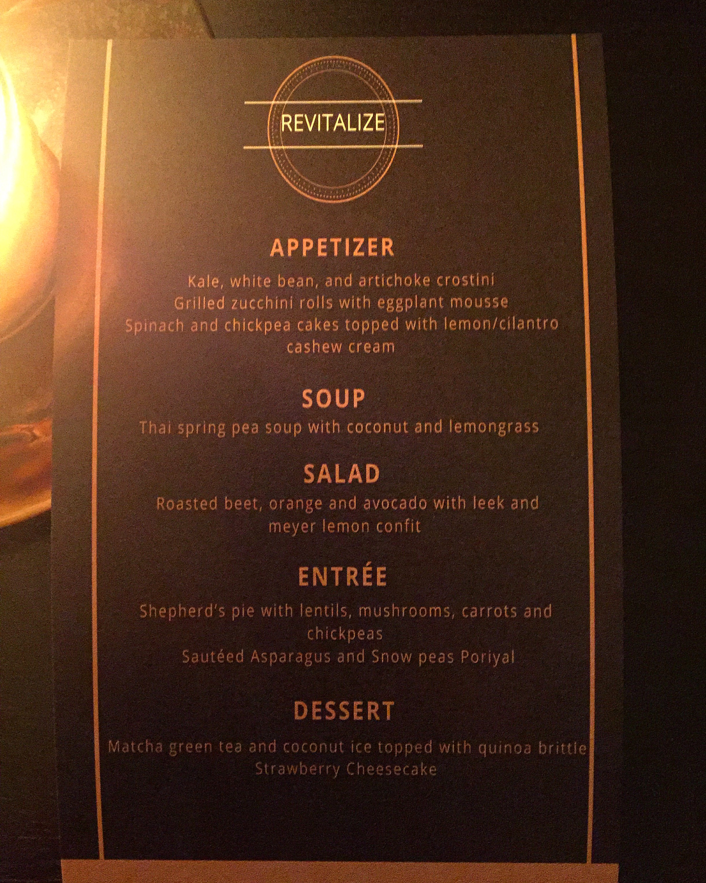 REVITALIZE: Spring Edition menu