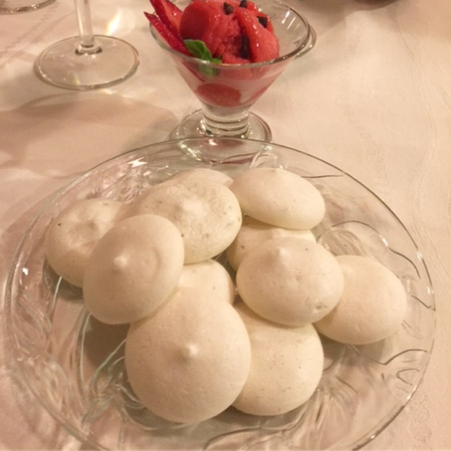 Lime 'meringues' made from aquafaba... light and fluffy and completely plant-based!