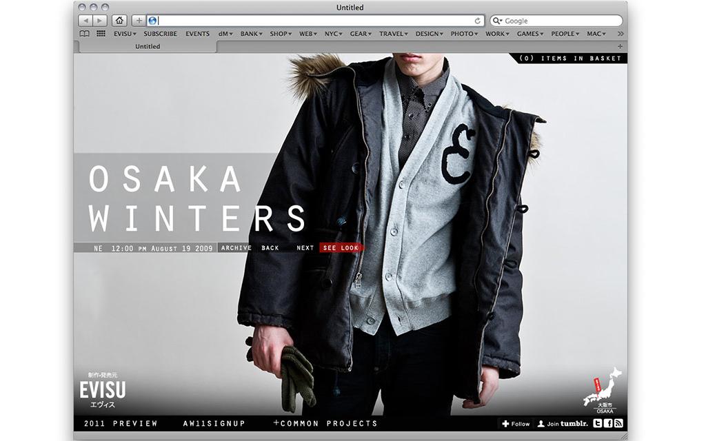 Site Design, Art Direction & Rebranding - Evisu