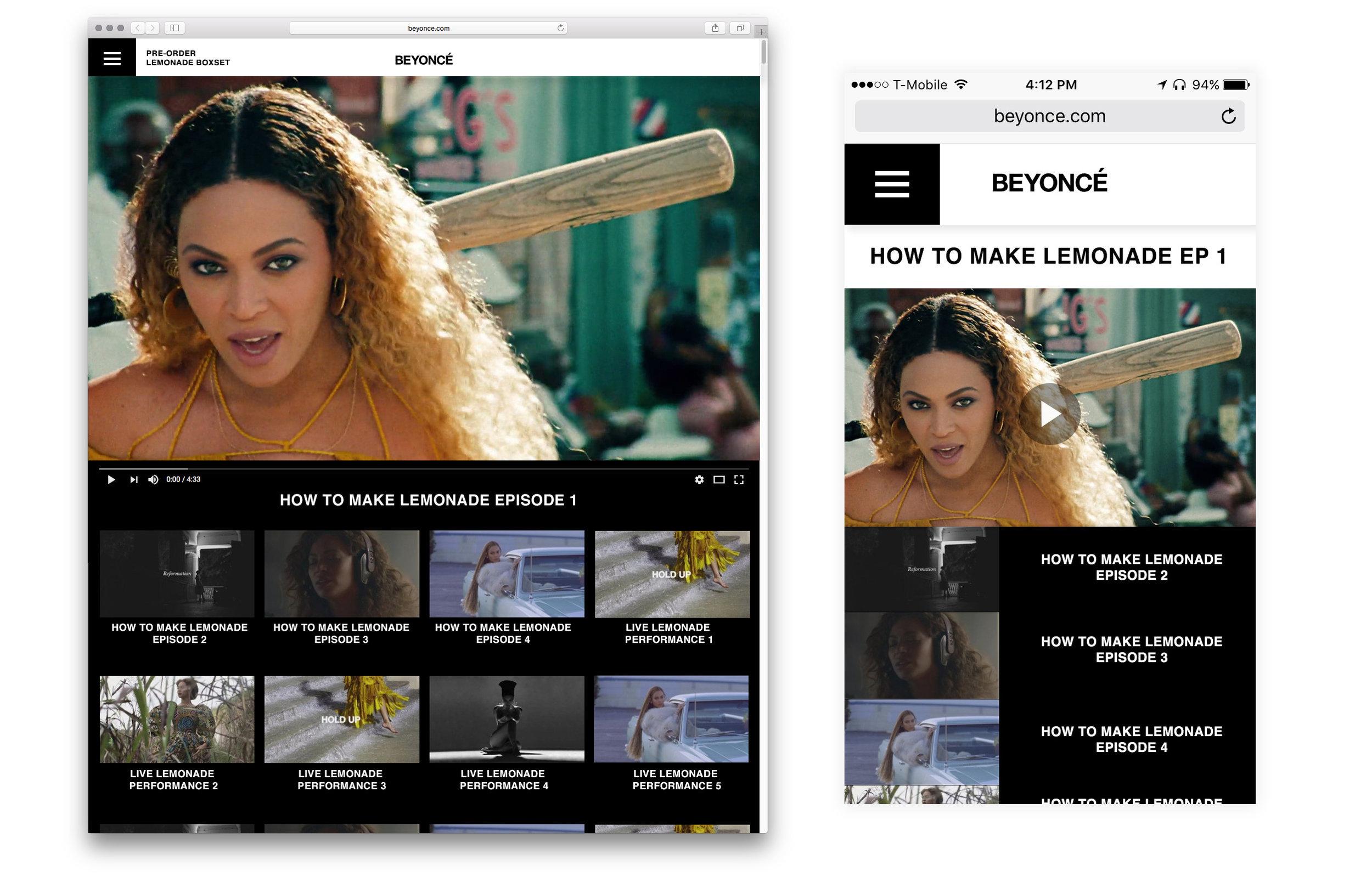Site Design - Beyonce