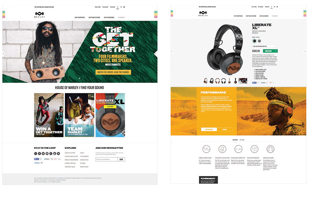 Site Design - House of Marley
