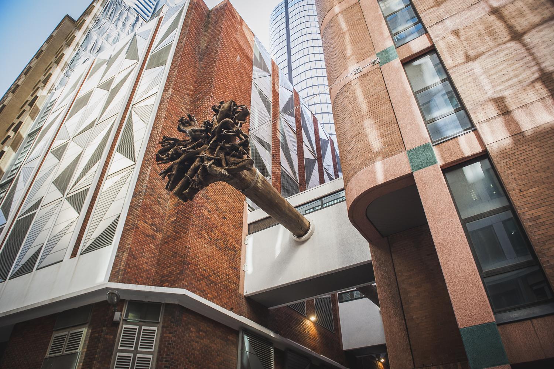 Underwood Ark, 2017, (detail)Eucalyptus pilularis and steel