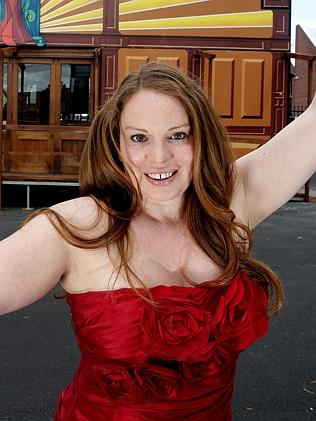 Singer Isabel Hertaeg performed in a quarry.