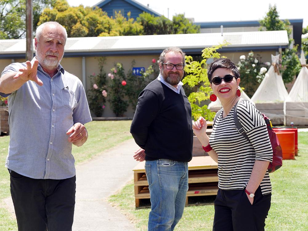 Chris Barter, Graham Coffey and Esther Anatolitis