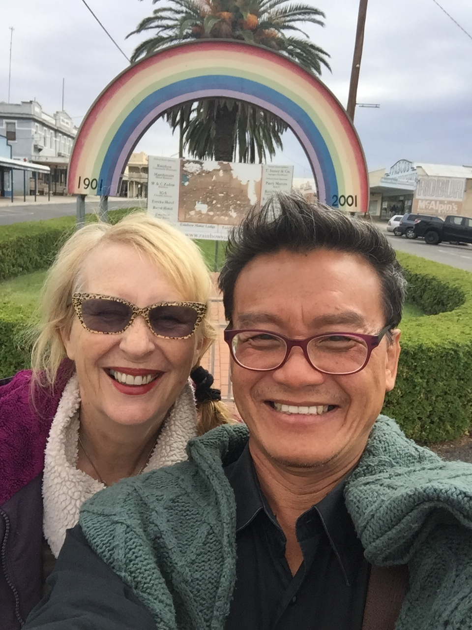 Tony and Dianne in Rainbow, 2017