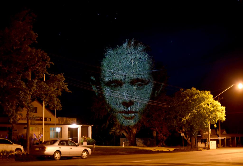 Craig Walsh projections in Birregurra, courtesy and © Birregurra Community Arts Group.