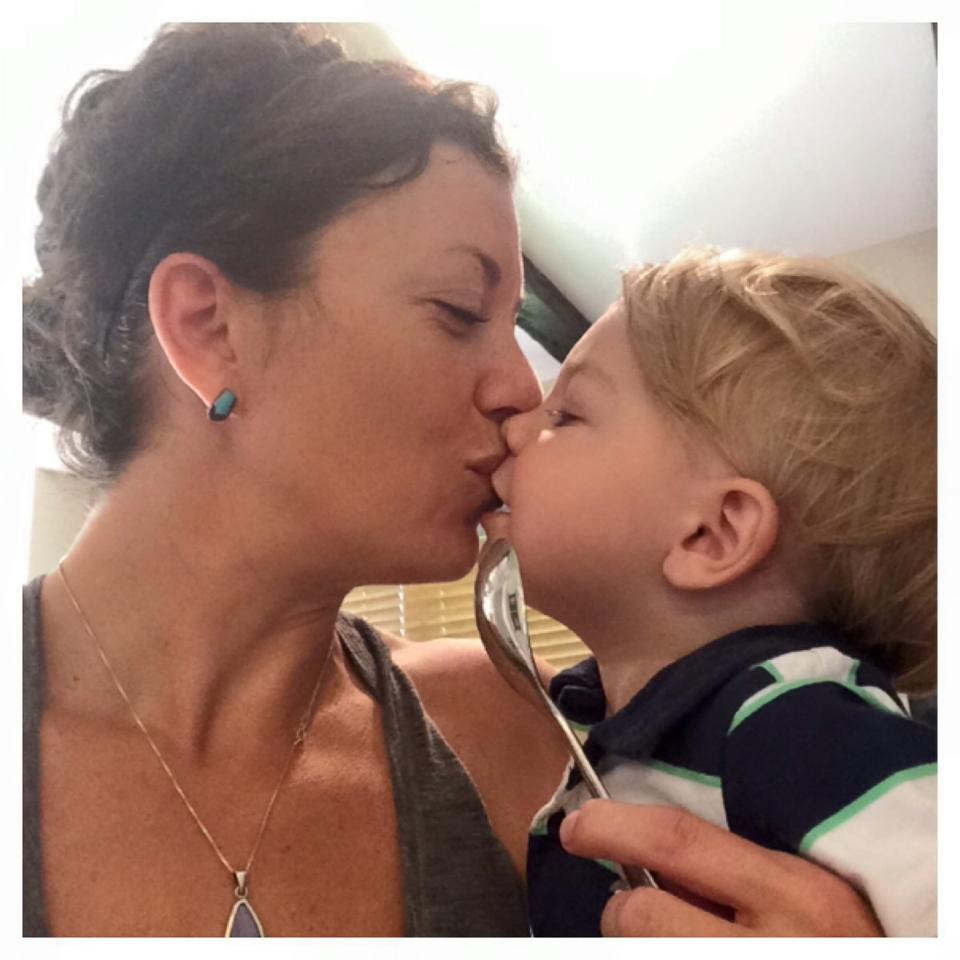 June 22, 2015 ·   Peanut butter on a spoon=best snack ever. Post peanut butter kisses=even better.