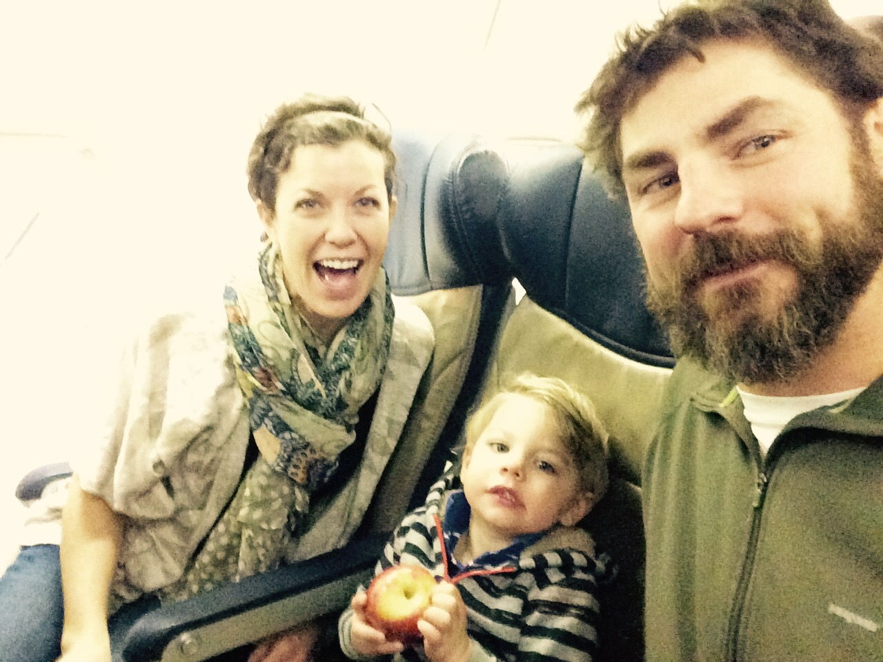 """February 10 ·   When the flight attendant says, """"you guys just go ahead and take the whole row."""""""